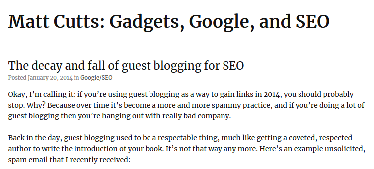 decay and fall of guest blogging